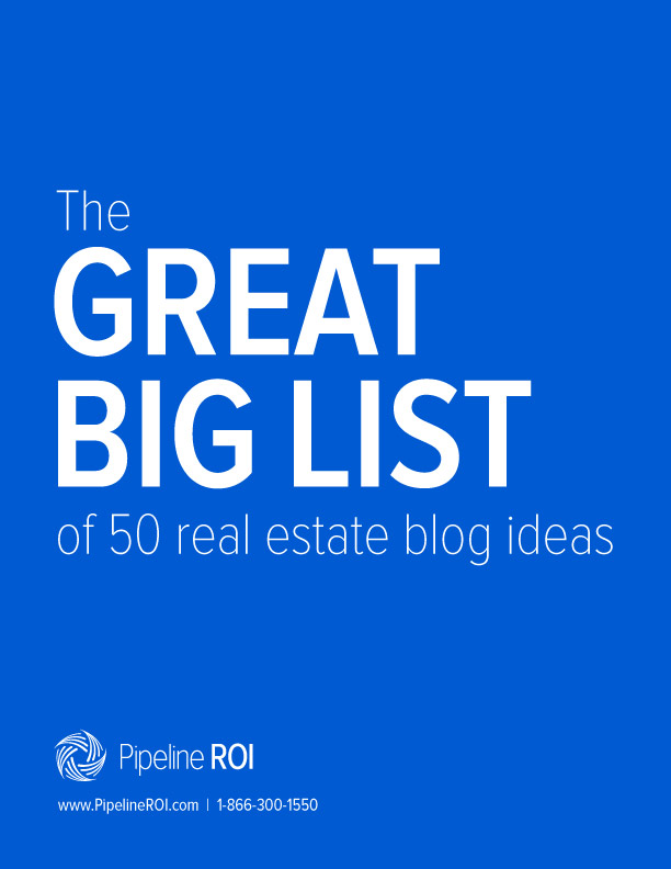 The great big list of 50 real estate blog ideas image